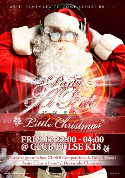 Party-a-bit Little Christmas @ Club Pulse Porvoo