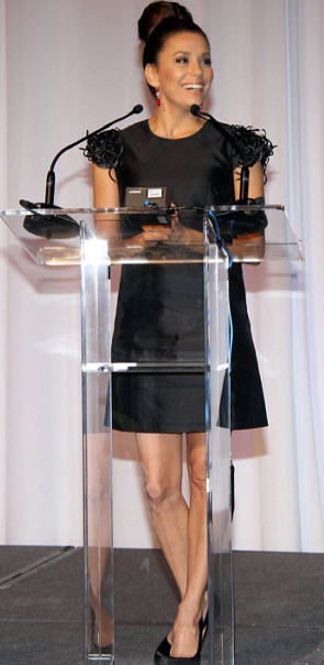 Eva Longoria was absolutely stunning in a black Kate Spade New York dress while hosting the 2011 Maladef Los Angeles Awards at the Westin Bonaventure.
