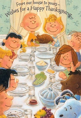 it's a snoopy thanksgiving