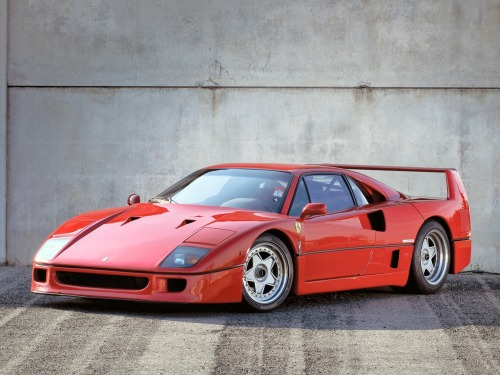 Ferrari F40. The sad truth is that this Italian exotic will remain just a dream for many of us.