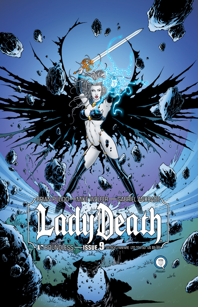 LADY DEATH #9 DETROIT FANFARE (MR)