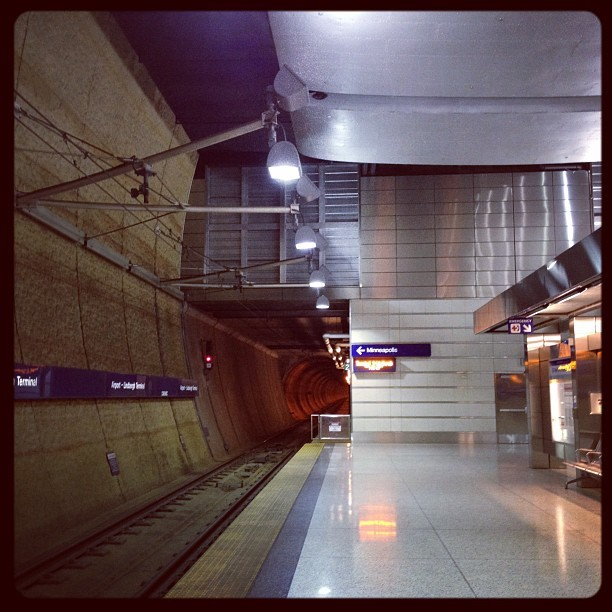 #minneapolis #lightrail #airport #publictransportationporn (Taken with instagram)