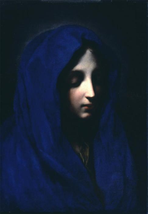 landlessness:  Carlo Dolci—The Blue Madonna, 17th century  I love that shade of blue; calm yet tinged with sadness.