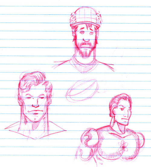 Walt doodles me I'm particularly liking how I compare to the other two folks on the page. I look mopey and weak, which is often the case. Walt says he's going to do another at a later date - he wasn't particularly happy with how my likeness came out but was game for me posting it.