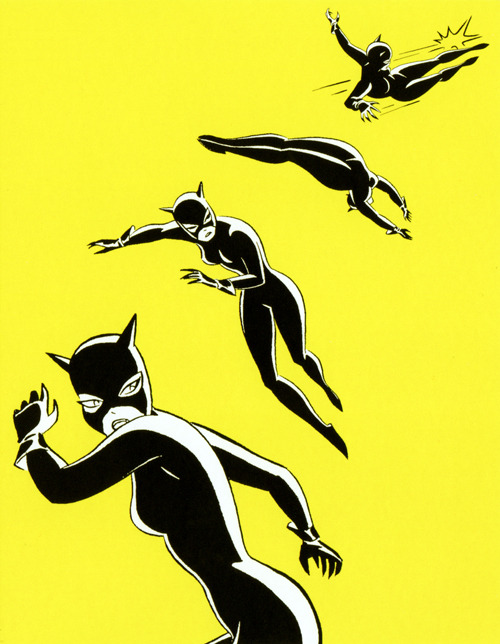 Catwoman by Bruce Timm, scanned from a notecard set I bought way back in 2000.