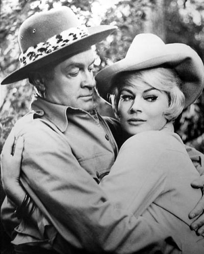 Bob Hope and Anita Ekberg in Call Me Bwana (1963)