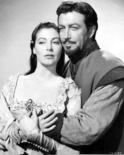 Ava Gardner and Robert Taylor in Knights of the Round Table (1953)