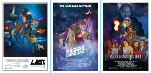 The complete LOST+Star Wars poster trilogy!