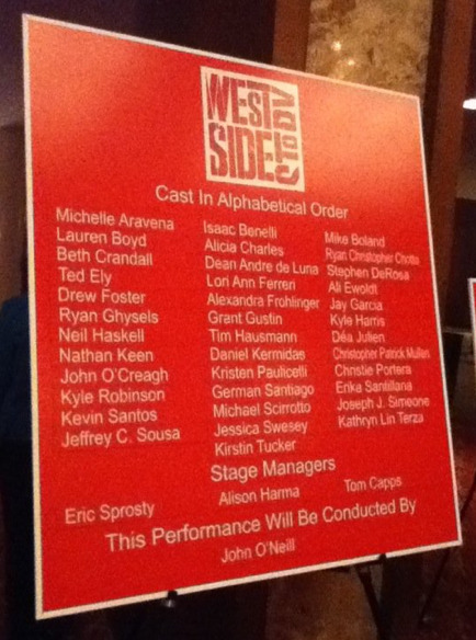 Other shows I've attended: West Side Story, October 2010  my photo