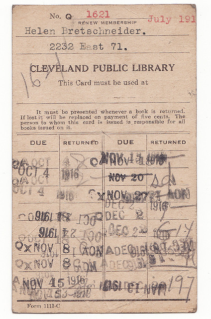 library card - 1916 [face] by the|G|™ on Flickr.