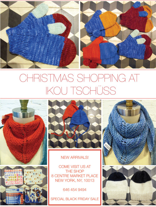 GET YOUR CHRISTMAS GIFTS AT IKOU TSCHUSS!