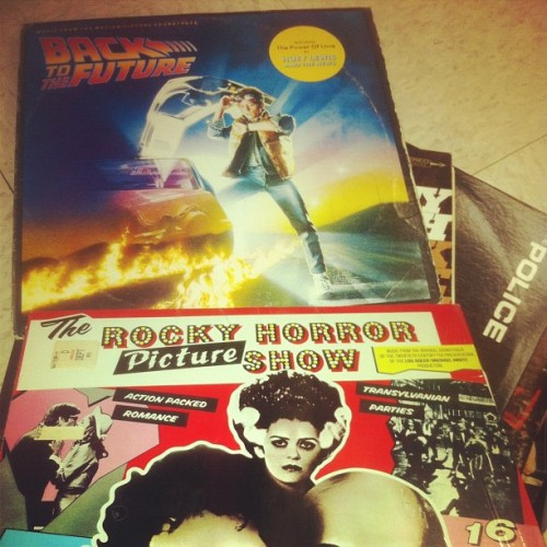 just bought these records and a bunch of queen records for 3 dollars (Taken with instagram)