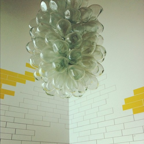 Amazing fixture #lamp #light #glass #blownglass #bathroom (Taken with Instagram at Intelligentsia Coffee & Tea)