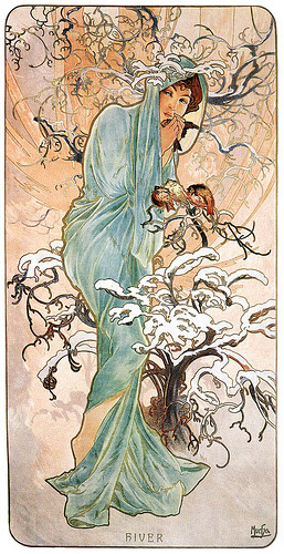redbimbo:  Winter (1896), by Alphonse Mucha