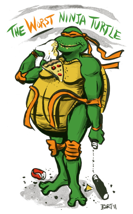 The Worst Ninja Turtle. I have this argument AT LEAST once a week. Posted on drawedgoods.