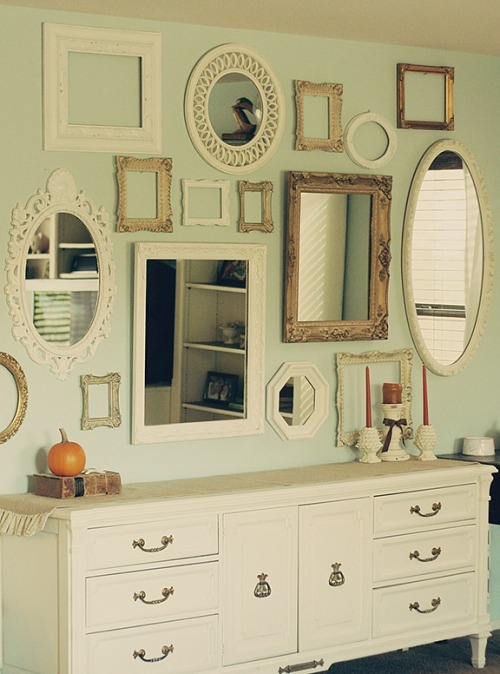 modcloth:  Love this wall art from the blog A Life of Blue.   Something about this just says Classy, Eclectic , Mysterious.
