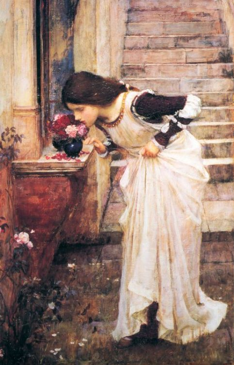 cavetocanvas:  At The Shrine - John William Waterhouse, 1895