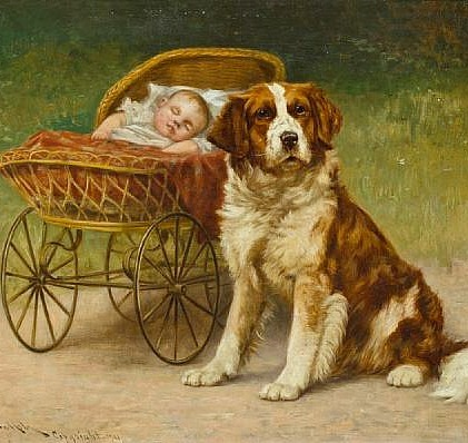 John Henry Dolph A Watchful Eye 1901