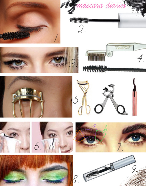 "Here is a how-to guide for basic mascara application with useful tips: 1. Wear it before buying -  When buying mascara make sure to test it first. Come to a store such as Sears, the Bay, Mac or Sephora without any mascara on. Test their mascara directly on your eyes using disposable spool. Wear it for the rest of the day, see if it crumbles or irritates your eye. If you liked it, get it. 2. Wand - Mascara brushes that come with your tube can be in million different looks. Choose the one that most resembles the wands fro your previous buys that you've liked. My personal favourite is Pur MInerals wand - it looks pretty much like any disposable spool.  3. Clumpy is not sexy -  Unless you are doing a Halloween look never do the ""clumpy look"". When you put on mascara it needs to look as natural as possible, all lashes separated, thin layer of mascara on top. Don't do layers of mascara, and make sure to get the excess product off the wand before applying it to your eyelashes.  4. The unclumping - If your eyelashes got 'stuck' together use a metal eyelash comb or a clean disposable spool to separate your lashes. You can always wash off the product and re-apply anew.  5. Curling before not after - You can curl your eyelashes only before mascara application not after. Why? Because with dry product on you can break and damage your eyelashes. The type of curler that you use is completely up to you; it can be old school, revamped Urban Decay's version, or one of the modern heated curlers. 6. Lower lash - Foolproof method to applying impeccable mascara to your lower eyelashes is to make sure that there is tissue paper between your skin and eyelashes. i,e, Kleenex, toilet paper, paper towel 7. Upper lash - How to apply mascara to your upper lashes.How I've seen MUAs do it: Start from the inner lower part of your eyelashes. Then moving the wand back and forth (right to left) movement  brush it from the roots of your lashes to the ends. How I do it: With your one eye semi closed (the one that you are about to apply mascara to) start at the roots of your eyelashes and at one sweeping stroke upwards apply mascara. For me it is a 3 step application a. centre of the eye, b. inner corner eyelashes and c. outer corner eyelashes. 8. Eyeshadow first - It is a simple rule eyeshadow goes on first, mascara after.  9. Flyways - If after applying mascara you have some lashes which are sticking out you can 'glue' them to the rest of the lashes using a transparent mascara or an eyebrow gel.  Diana ♥"