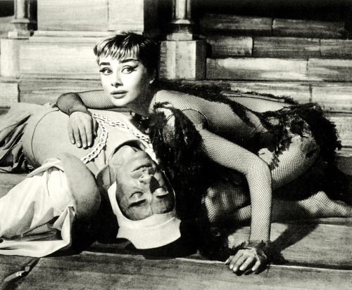vintagegal:  Audrey Hepburn and husband Mel Ferrer in the stage production of Ondine 1954