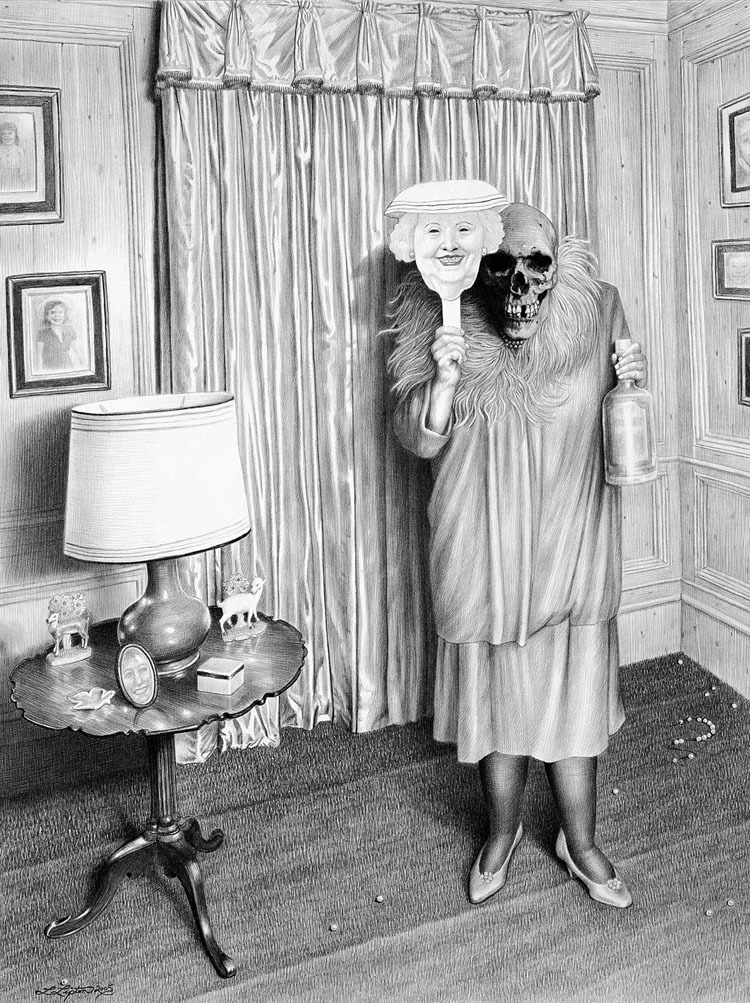 Laurie Lipton: Facelift, 2005.