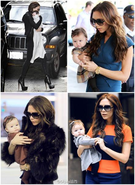 victoria beckham and baby harper :x