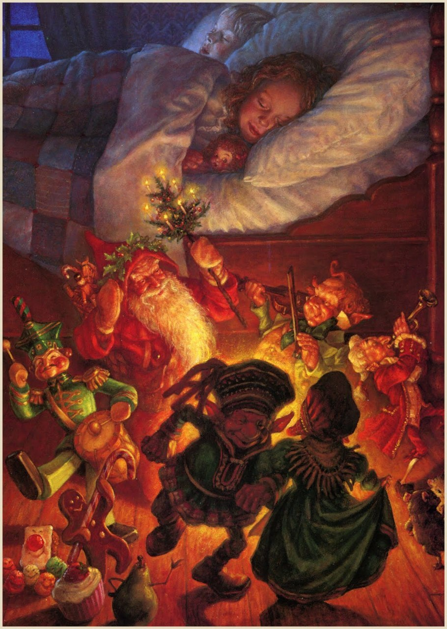Scott Gustafson ~ Visions of Sugar Plums ~ The Night Before Christmas ~ via The Pictorial Arts Merry Christmas!