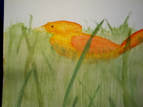 I painted a little bird this afternoon :)