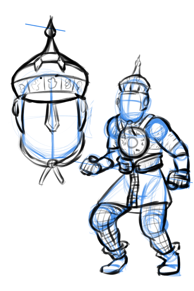 A design for a guard in an rpg.