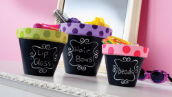 Organise with chalkboard flower pots