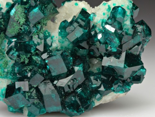 Dioptase with Calcite from Namibia