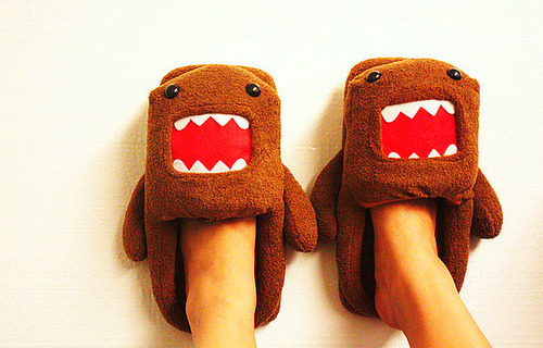 Domo Slippers  Adding these to the Xmas list.
