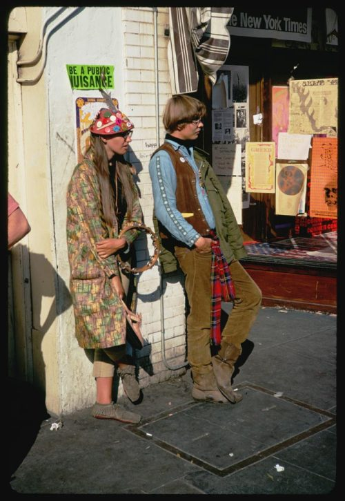 Haight Street Hippies (Be a Public Nuisance) - San Francisco, California  Photo by Charles Cushman