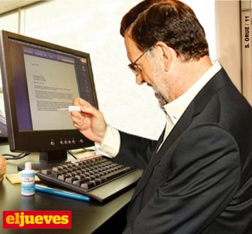 Rajoy trabaja en la sede del PP desde primera hora de la mañanaS. ORUE EN EL JUEVES