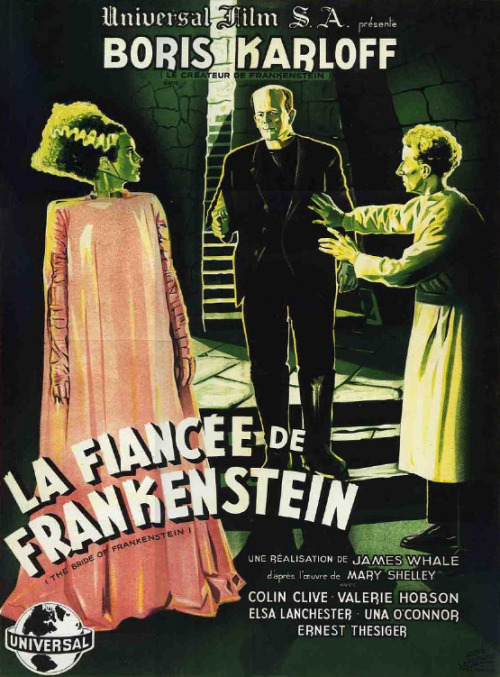 The Bride of Frankenstein (1935)  French poster