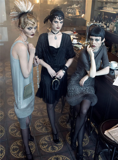 eleganceandsnobbery:  Here is a selection of my favorite 1920's themed editorials. I didn't get to use them for my 20's fashion report so I might as well post them here!