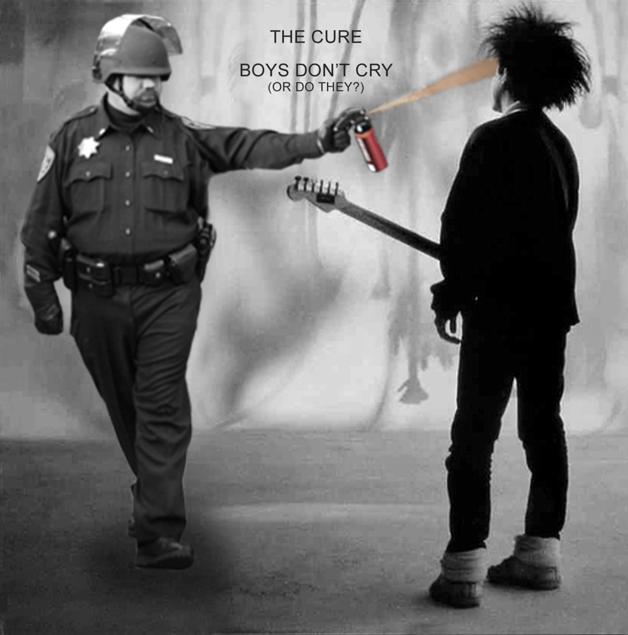 gonggee:  The Cure - Boys Don't CryPepper Spraying Cop