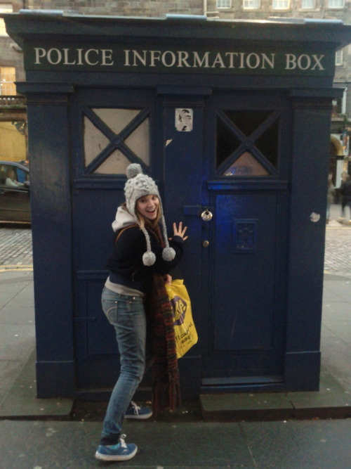 UK trip: a picture a day  A real blue police box in Edinburgh. I squealed in the middle on the street.