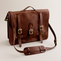 Montague Leather Satchel (based on military briefcases), J.Crew