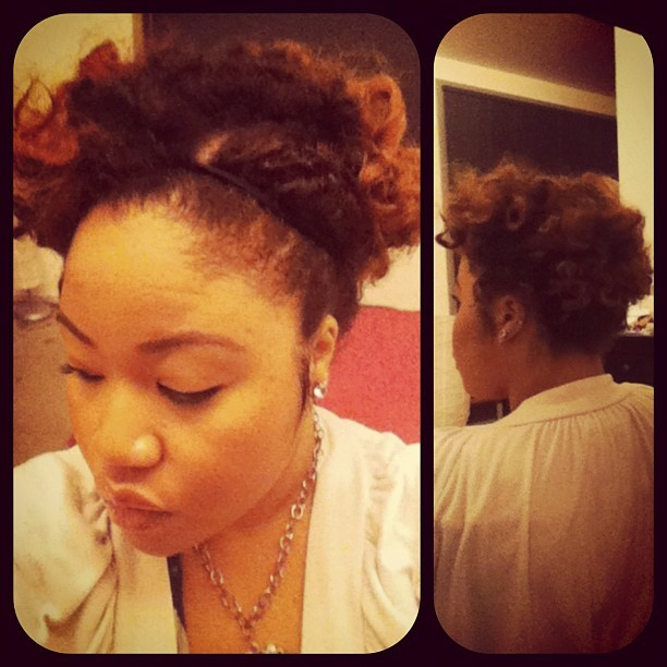 Today's hair! #naturalhair #curls  (Taken with instagram)