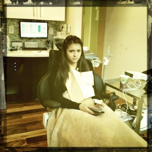 from Nina's twitter: ' :( aikaramba!! Here goes.. Nervous. But peasantlyLoopy.Don't like needles or blood. This is not going to be fun. Yikeshttp://pic.twitter.com/QSVdrKSX '