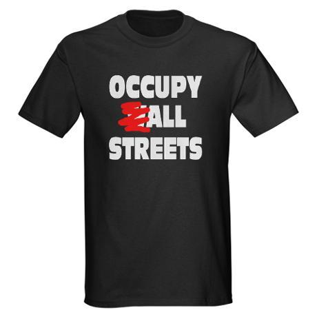 Show you support for the Occupy Movement with this Occupy All Streets Design. (via Occupy All Streets T-Shirt )