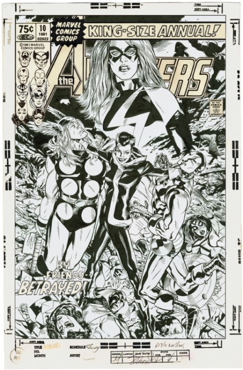 Michael Golden Cover Recreation of Avengers Annual #10