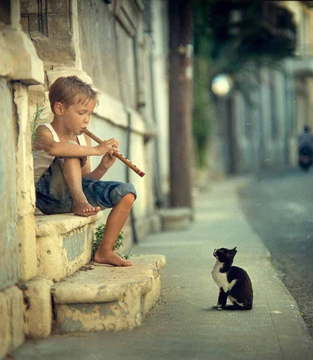 coolpictures:  Kitty Charmer Relative of the Pied Piper of Hamelin?
