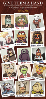 zdarsky:  THIS WAS VERY FUN TO DRAW. nparts:   The Muppets are back on the big screen! But what have they been doing for the last 12 years? Steve Murray takes a look at some of their failed casting attempts. Also! Chris Knight gives their new outing FOUR STARS! Also!Gonzo wins our Tournament of Muppets! Man, it's a good day to be a Muppet.