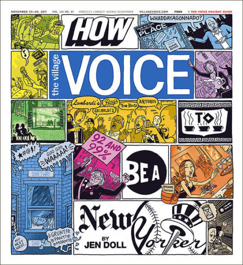 "villagevoice:  Jen Doll has written a fantastic cover this week about ""How To Be A New Yorker."" A must-read for anyone heading home for the holidays missing this great city of ours, or anyone who's staying and feels like they need a few reasons to love this town."