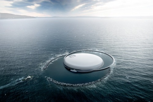 Snohetta's entry for Marintek Deep Ocean Laboratory. via Cosmopolitan Scum