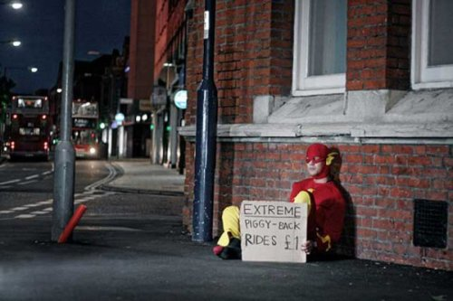 The Flash Is Homeless  Everything was OK till he started flashing people.