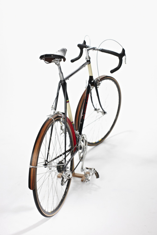Not only I love the bicycle (I owned similar), but the wooden mudguard is the best I've seen with it's beautiful red underside.
