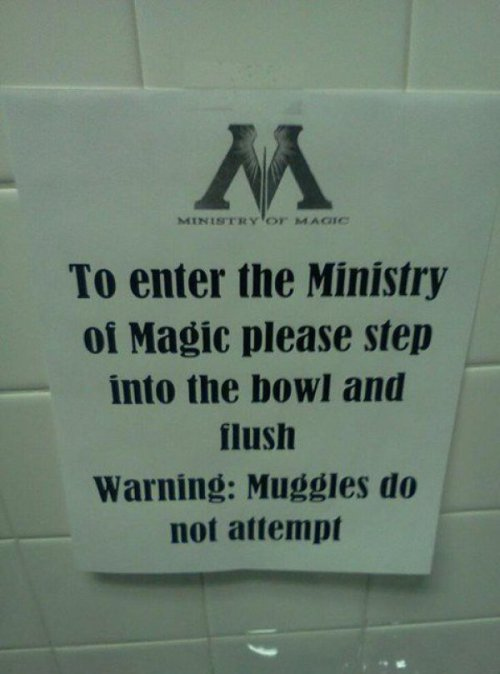 Harry Potter Prank  As if wizards didn't have anything better to do than prank muggles.